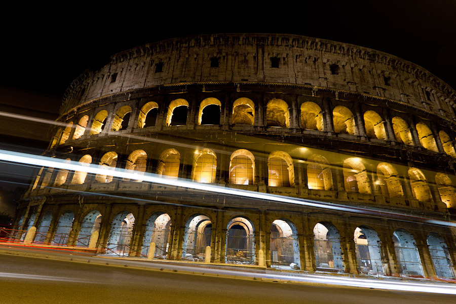 Photograph Colosseum by night by Alexander Dragunov on 500px