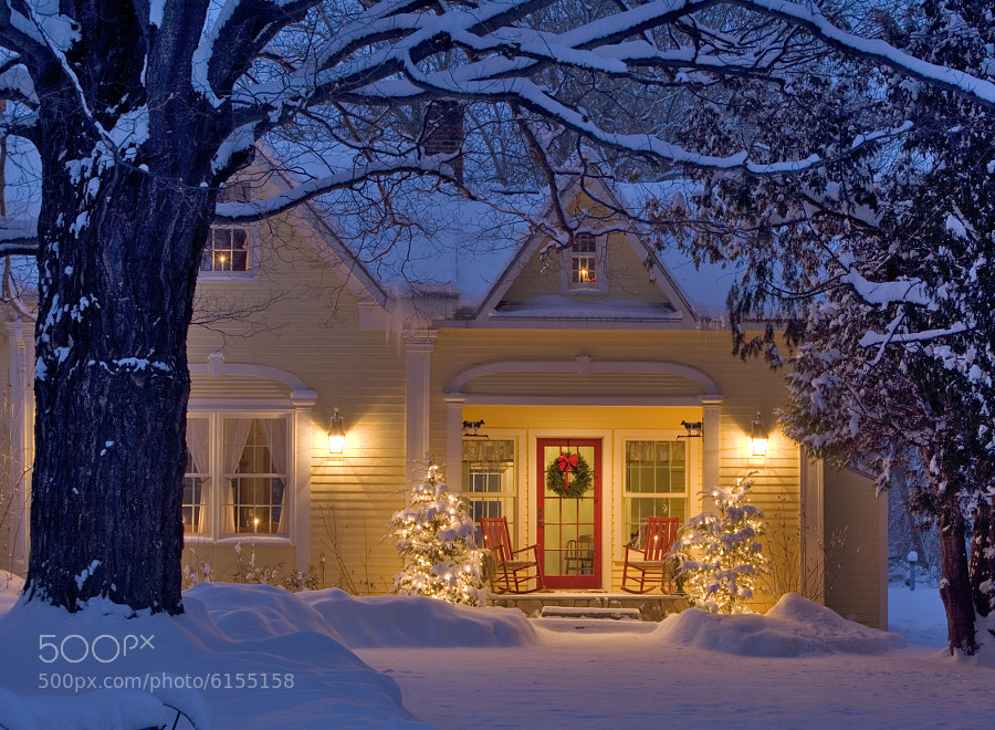 Photograph Christmas Home. Grand Isle, Vermont by George Robinson on 500px