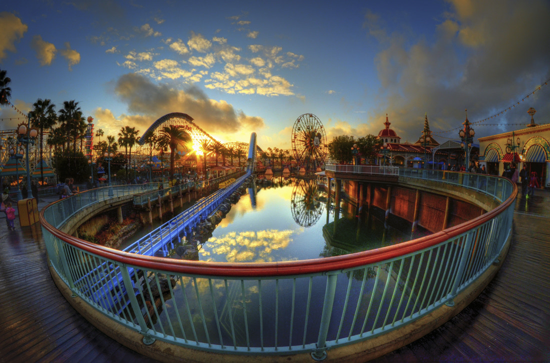Photograph Sunset At Paradise Pier by William McIntosh on 500px