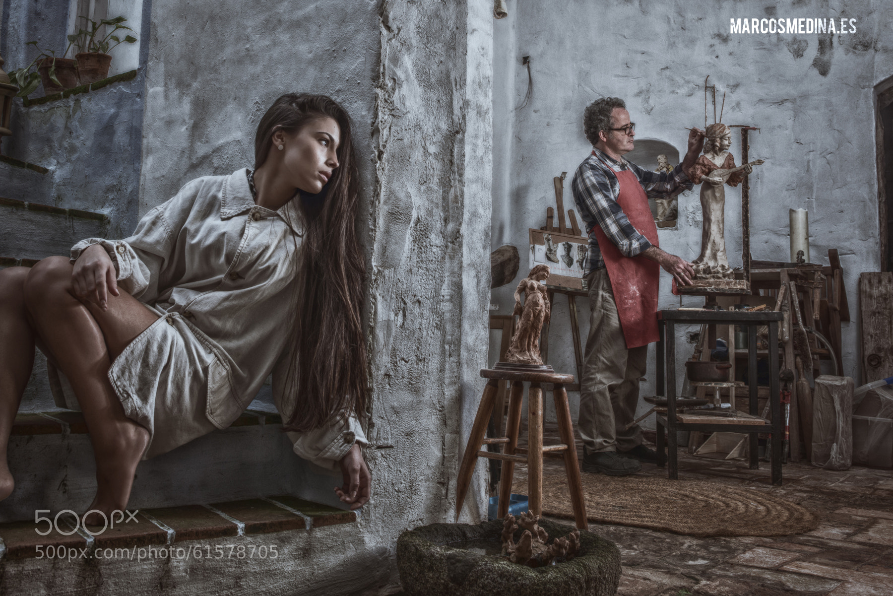 the sculptor of women by Marcos Medina