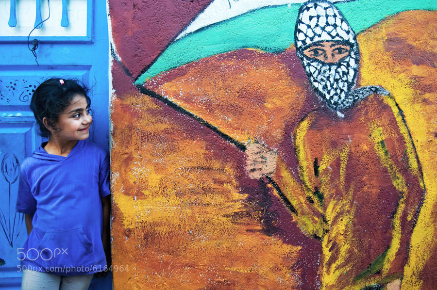 Photograph Palestinian girl by Sidney Bovy on 500px