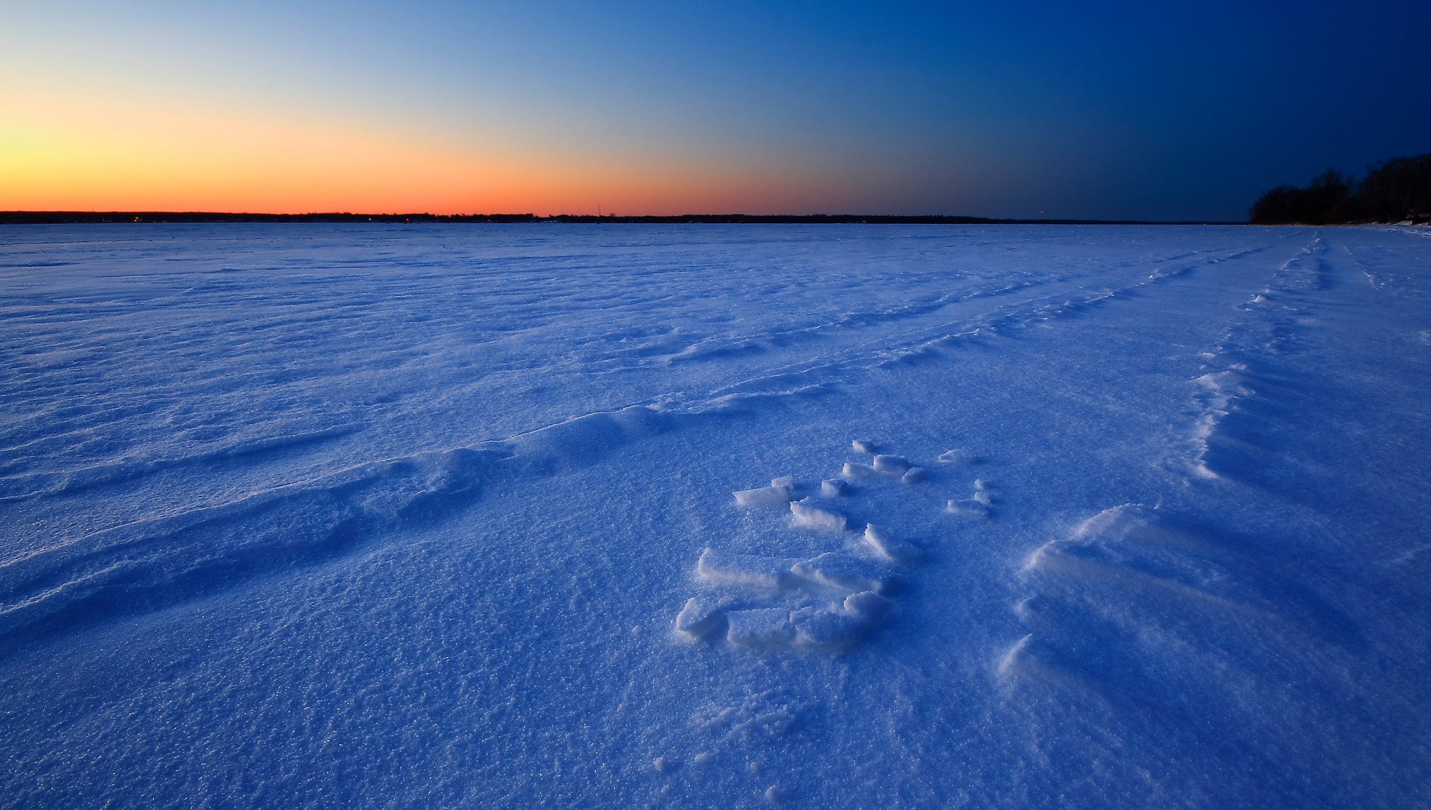 Photograph Frozen Lake at Sunset by Andy Barrow (SnapHappyExpat) on 500px