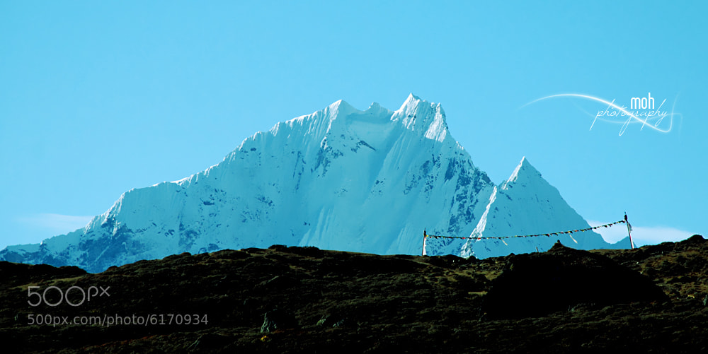 Photograph Mt. Thamserku & Flight of Prayers by Mohan Duwal on 500px