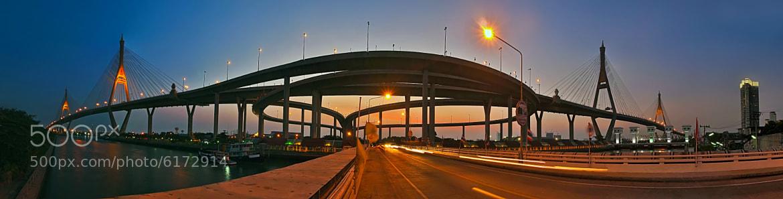 Photograph Bhumibol Bridge Panorama by Reinhard Latzke on 500px