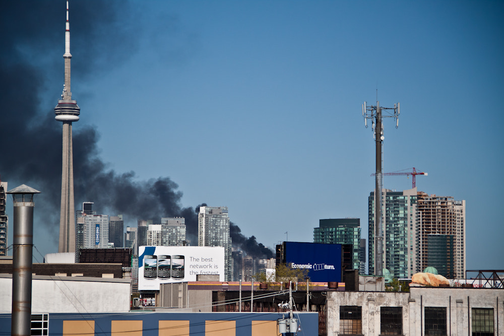 Photograph Condo burning in downtown Toronto by Oleg Gutsol on 500px