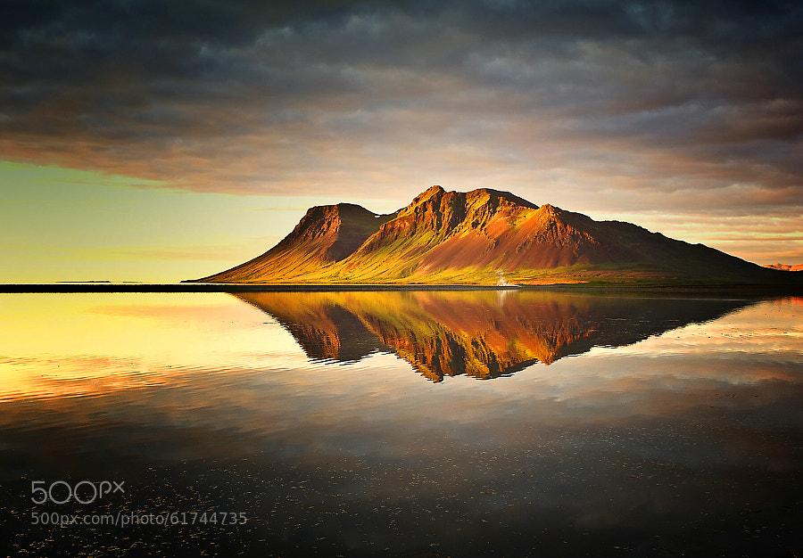 Photograph Bjarnarhafnarfjall Sunset by Carsten Meyerdierks on 500px