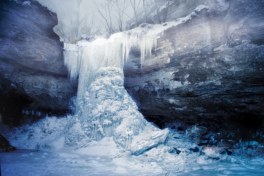 Frozen waterfall by Natalia Cebotari on 500px.com