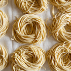 Recipe at http://www.hungrycravings.com/2014/02/more-adventures-in-extruded-pasta.html