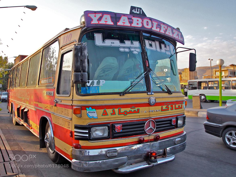 Photograph VIP Bus in downtown Shiraz Iran by Cori B on 500px