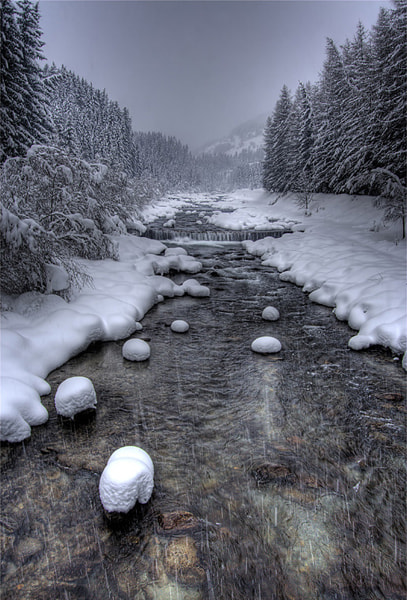 Photograph Snowfall along the river by Vittorio D'Apice on 500px