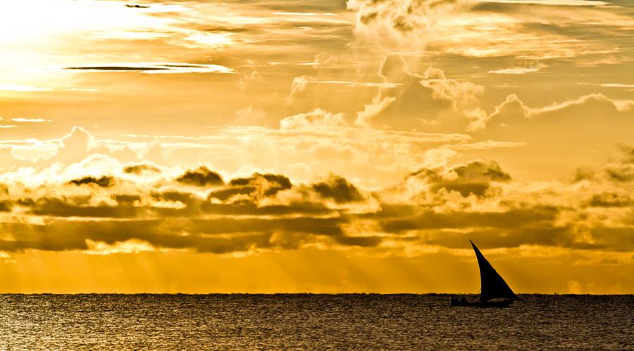 Sailing off Pangani Coast, Tanzania