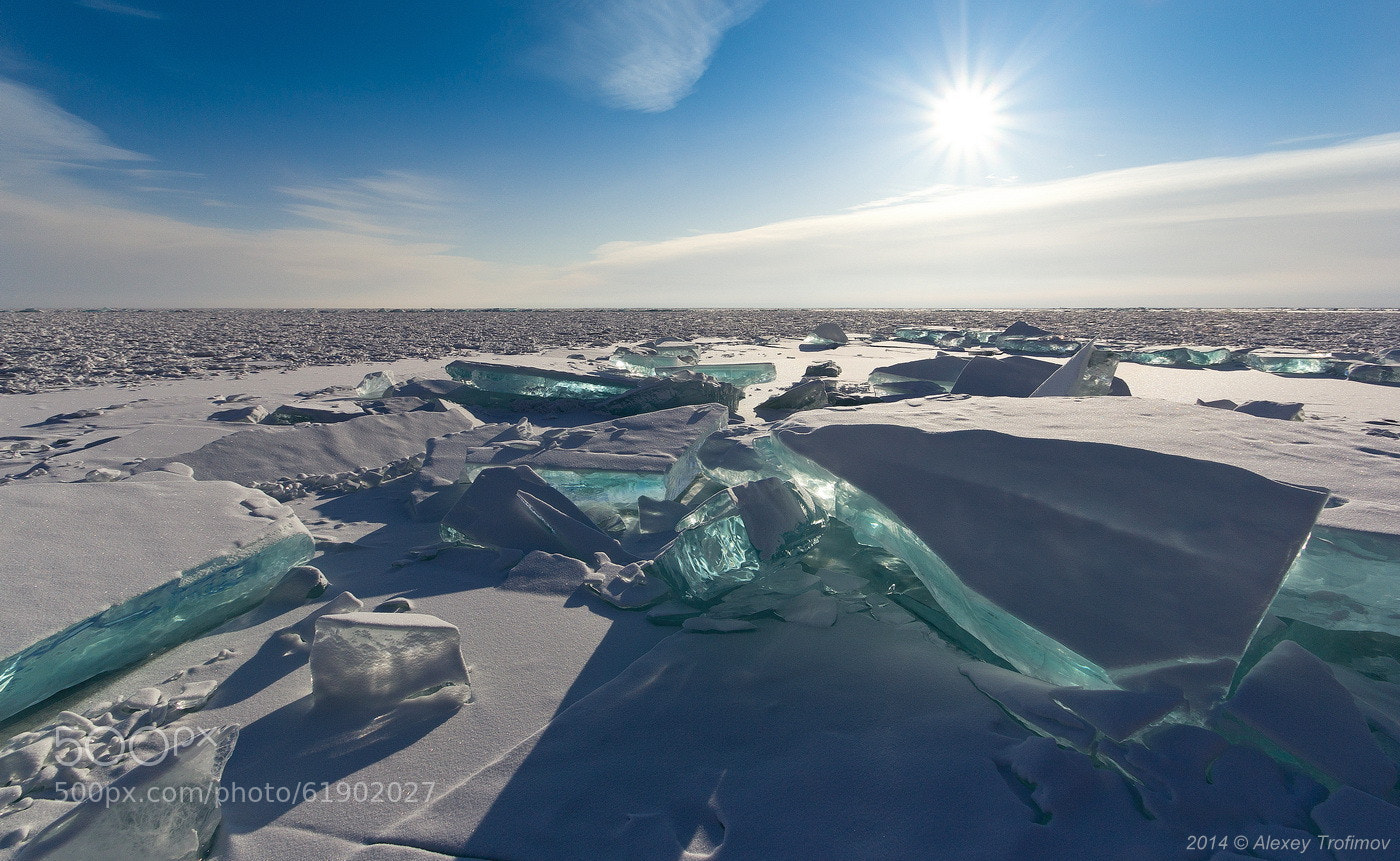 photograph baikal ice emerald by alexey trofimov on 500px