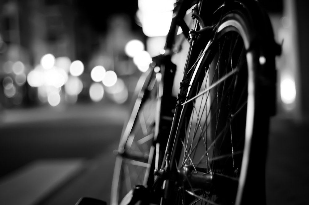 Photograph Bicycle at night by Kai Rauer on 500px