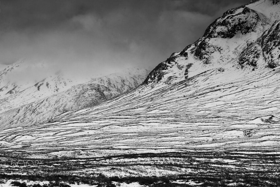 The Stob Dearg under a winters sky. Glencoe, Scotland.