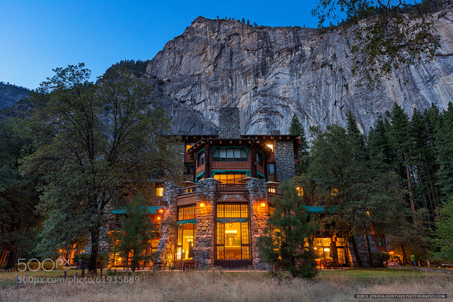 Photograph Ahwahnee Hotel Blue Hour - Yosemite National Park by Joshua Gunther on 500px