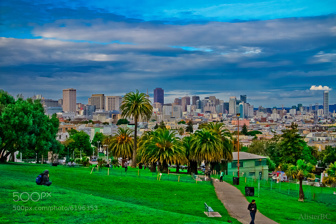 Photograph Blue and Green in the City by Alister C. on 500px
