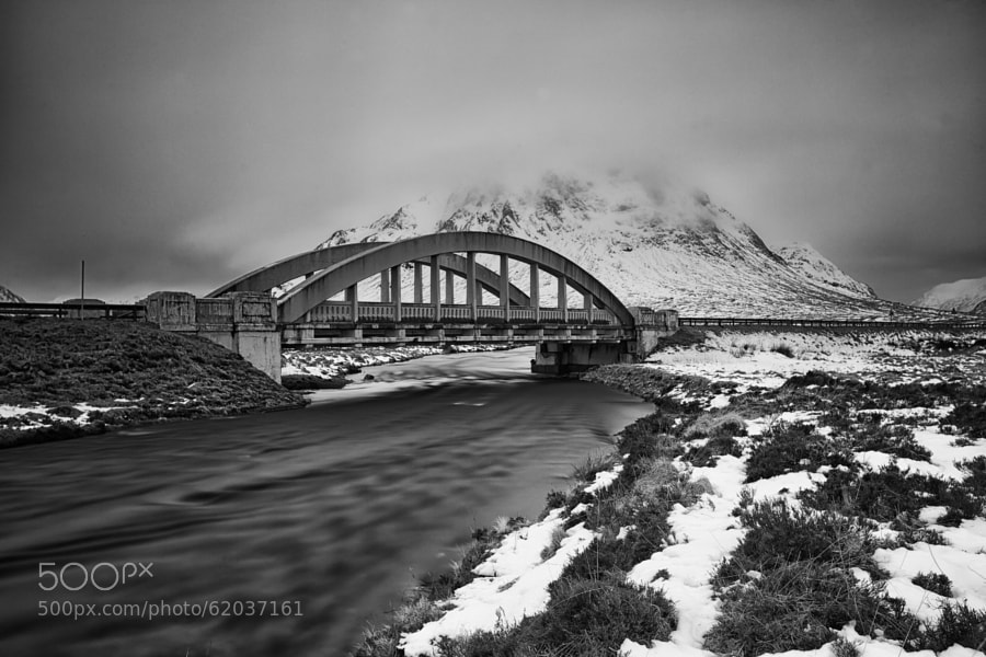 Glencoe Bridge over the river Etive.