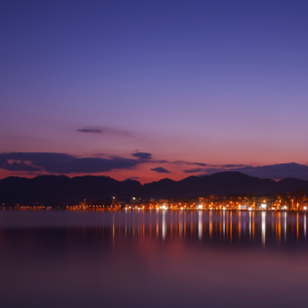 marmaris lights at night