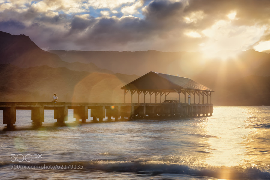 Photograph Enjoying the Sunset at Hanalei Bay by Ian Frazier on 500px