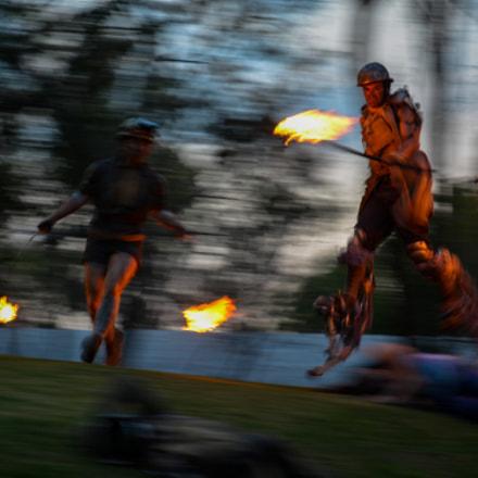 Salto y fuego