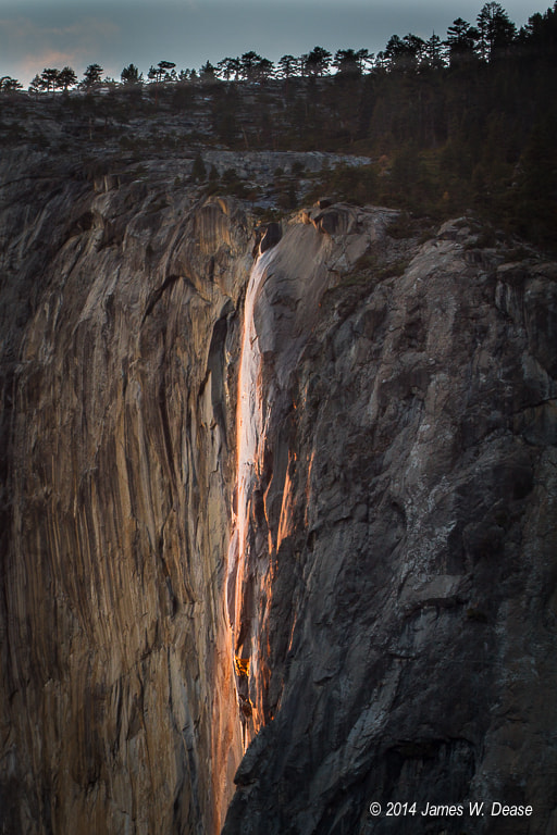 Photograph Horsetail Fall at Sunset - 2014 by Jim Dease on 500px