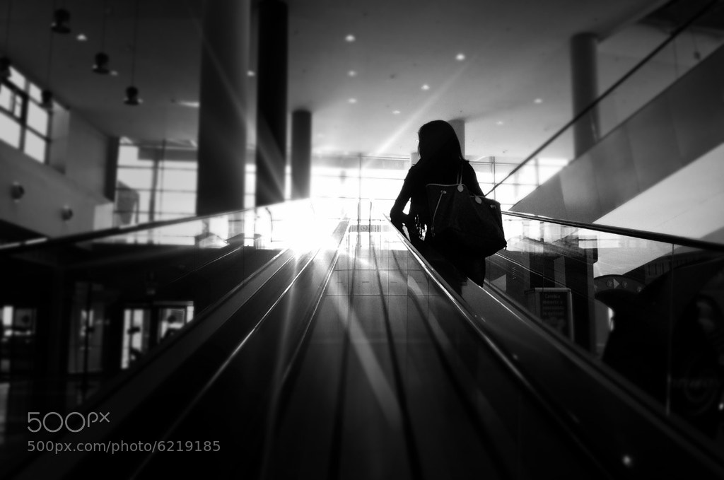 Photograph escalator by Simone Cento on 500px