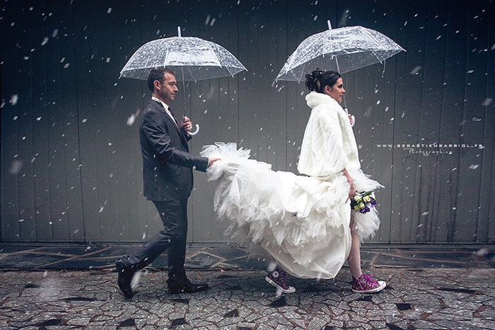 Photograph snowy wedding by Sebastien Barriol on 500px