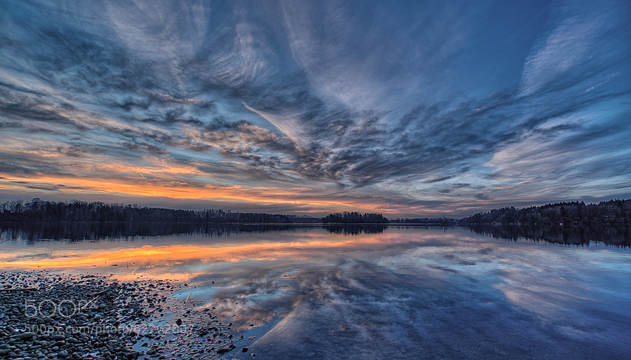 Photograph blue hour at Abtsdorfer See by Maltan Anton on 500px