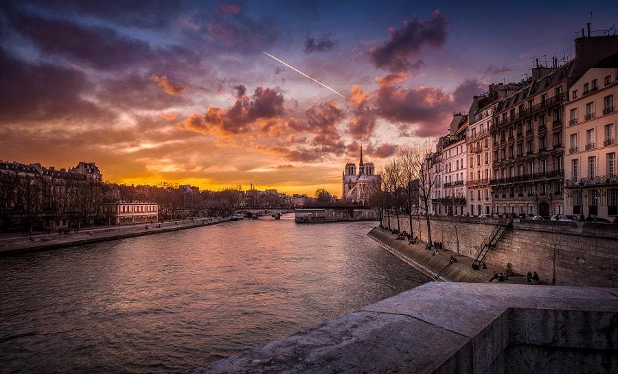 Sunset on Notre Dame