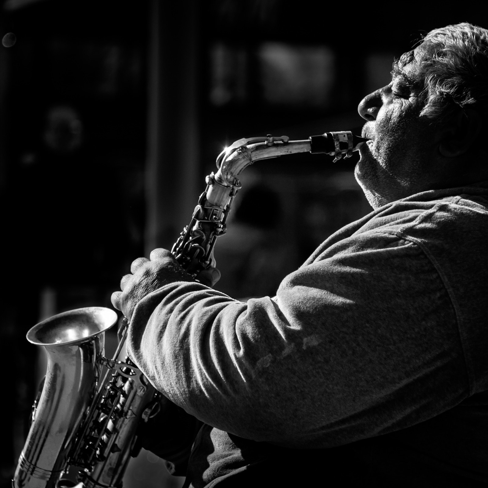 Photograph Sax Player by Tormod Raen on 500px