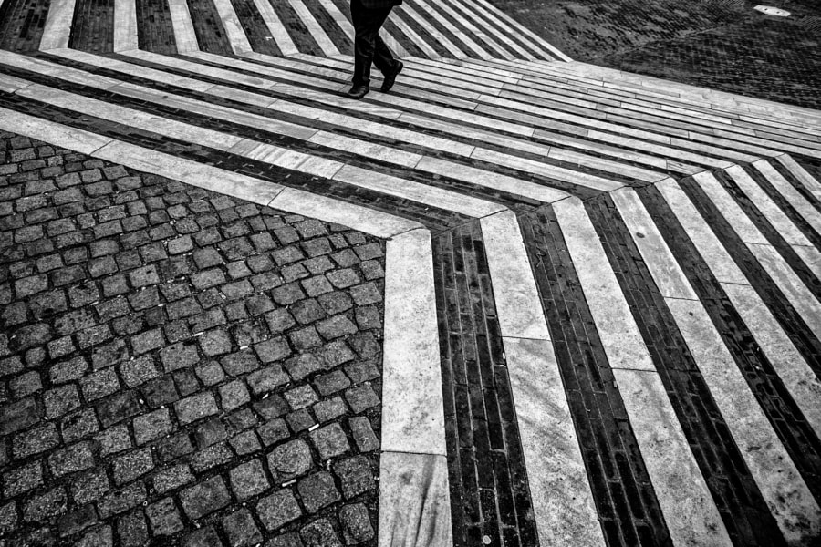 walking on the line