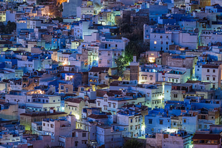 Chefchaouen at Night by Heather Balmain on 500px