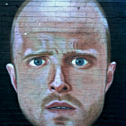 Постер, плакат: Aaron Paul Jesse Pinkman Wall Graffiti