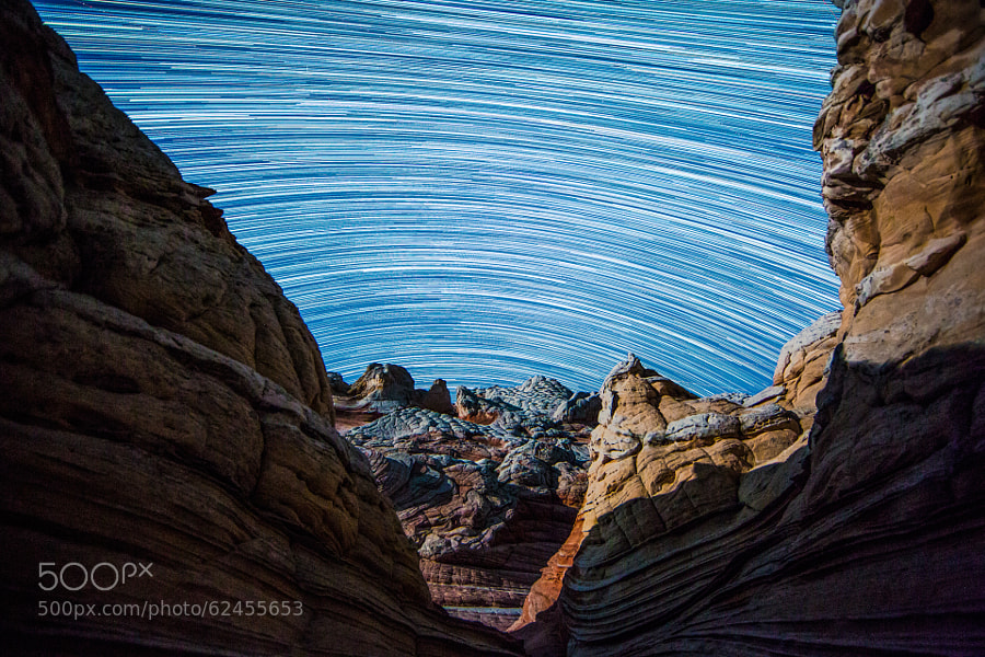 Photograph White Pocket Star Trails by Andrew Walker on 500px