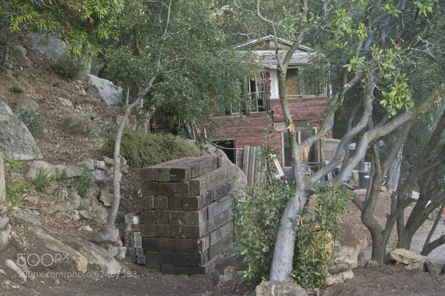 A house being rebuilt in Santa Barbara, California.