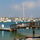 A beautiful day on the Newport Beach Bay in California.