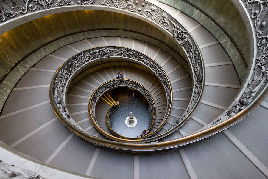 Photograph Vatican stairs by Alexander Dragunov on 500px