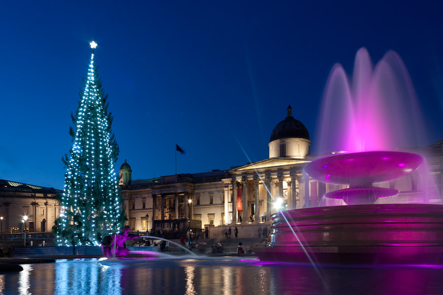 Christmas in London - National Gallery von Fabio Bricchi auf 500px.com