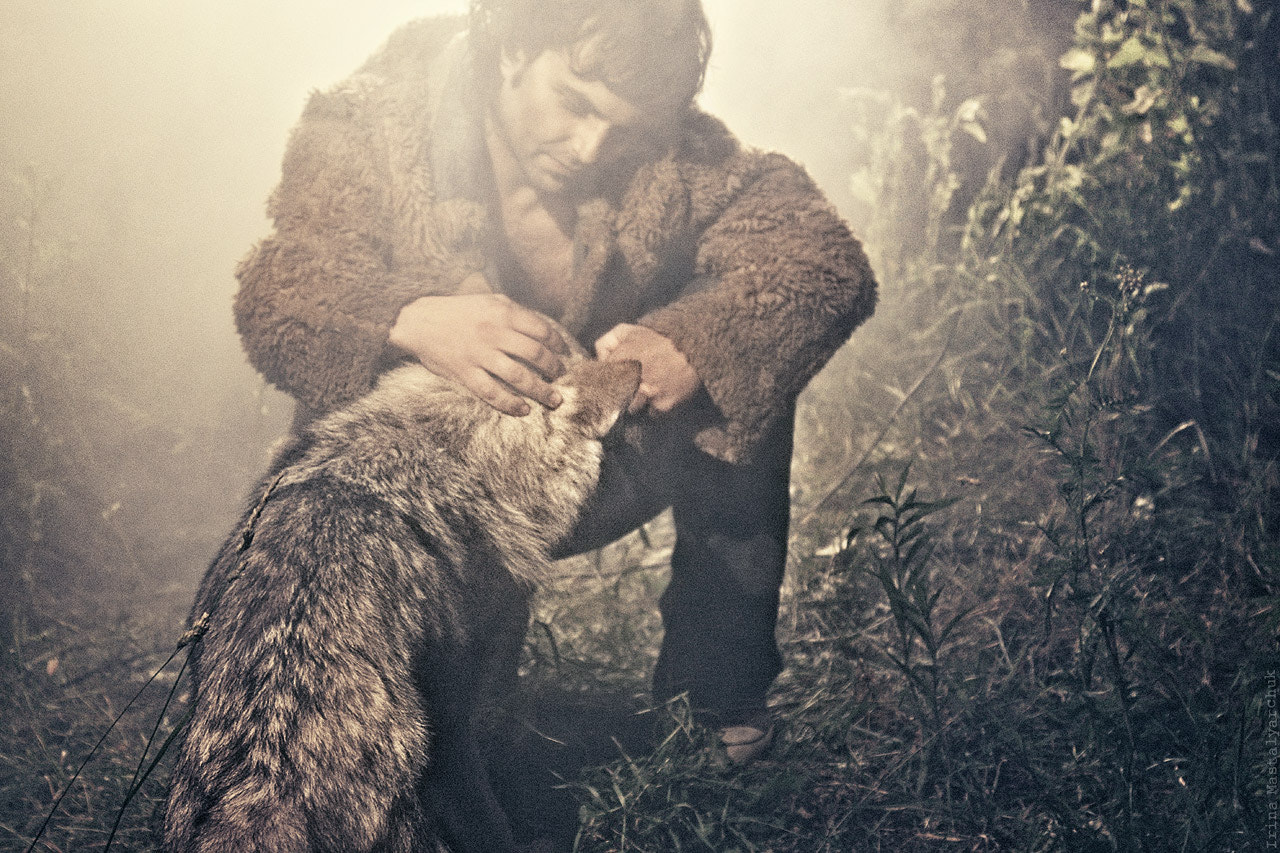 Photograph friendship with a wolf by Irina  Mastalyarchuk on 500px