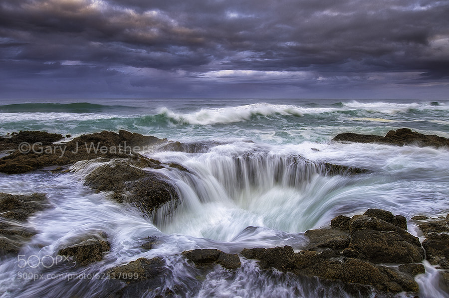 Photograph Thor's Well. Cape Perpetua, Oregon by Gary Weathers on 500px