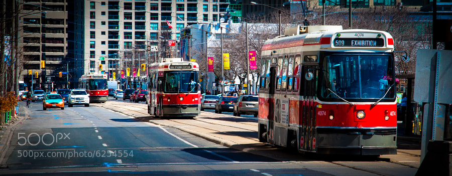 Still love the Toronto streetcars. Finally went back home to shoot them this weekend.