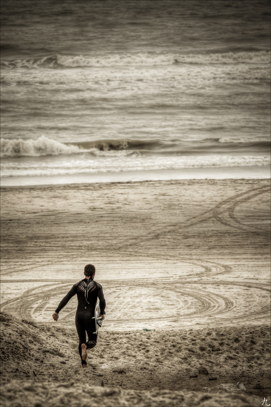 Photograph Running to the waves by Frédéric Baque on 500px
