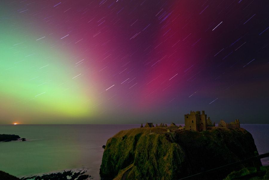 Photograph Dunnottar star trail by Kenny Muir on 500px