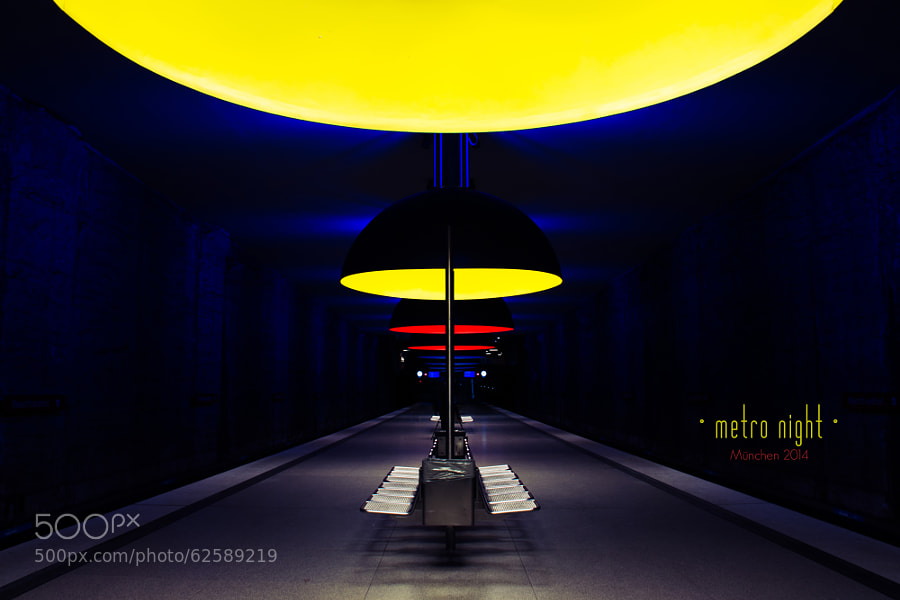 Photograph metro night by Benno Kress on 500px
