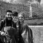 Artistic couple in Rome