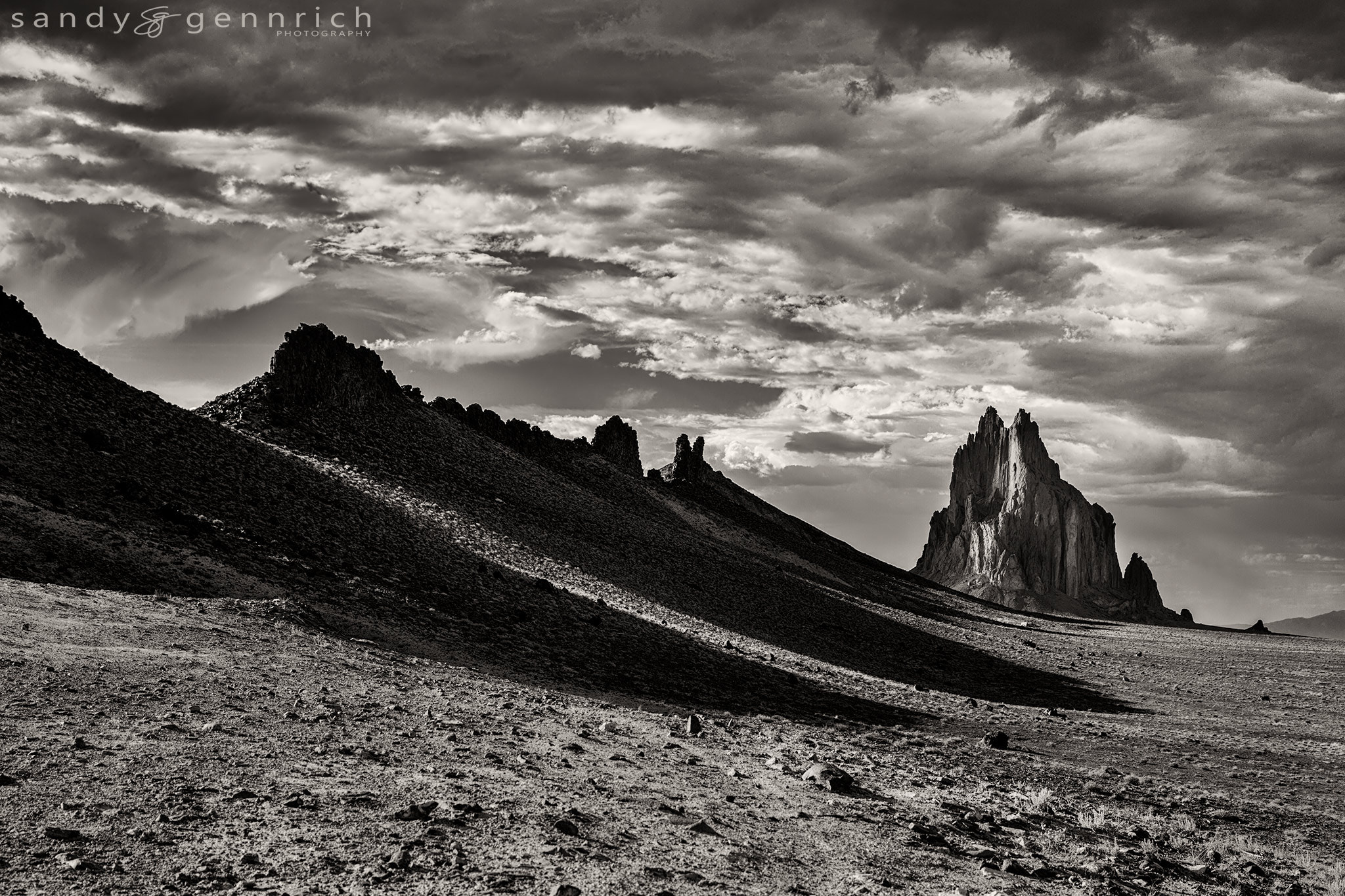 Photograph Shiprock and Shadows - Farmington NM by Sandy Gennrich on 500px
