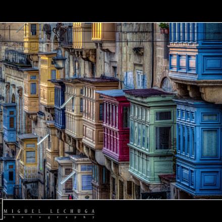 Malta - Valletta Traditional Maltese Balconies