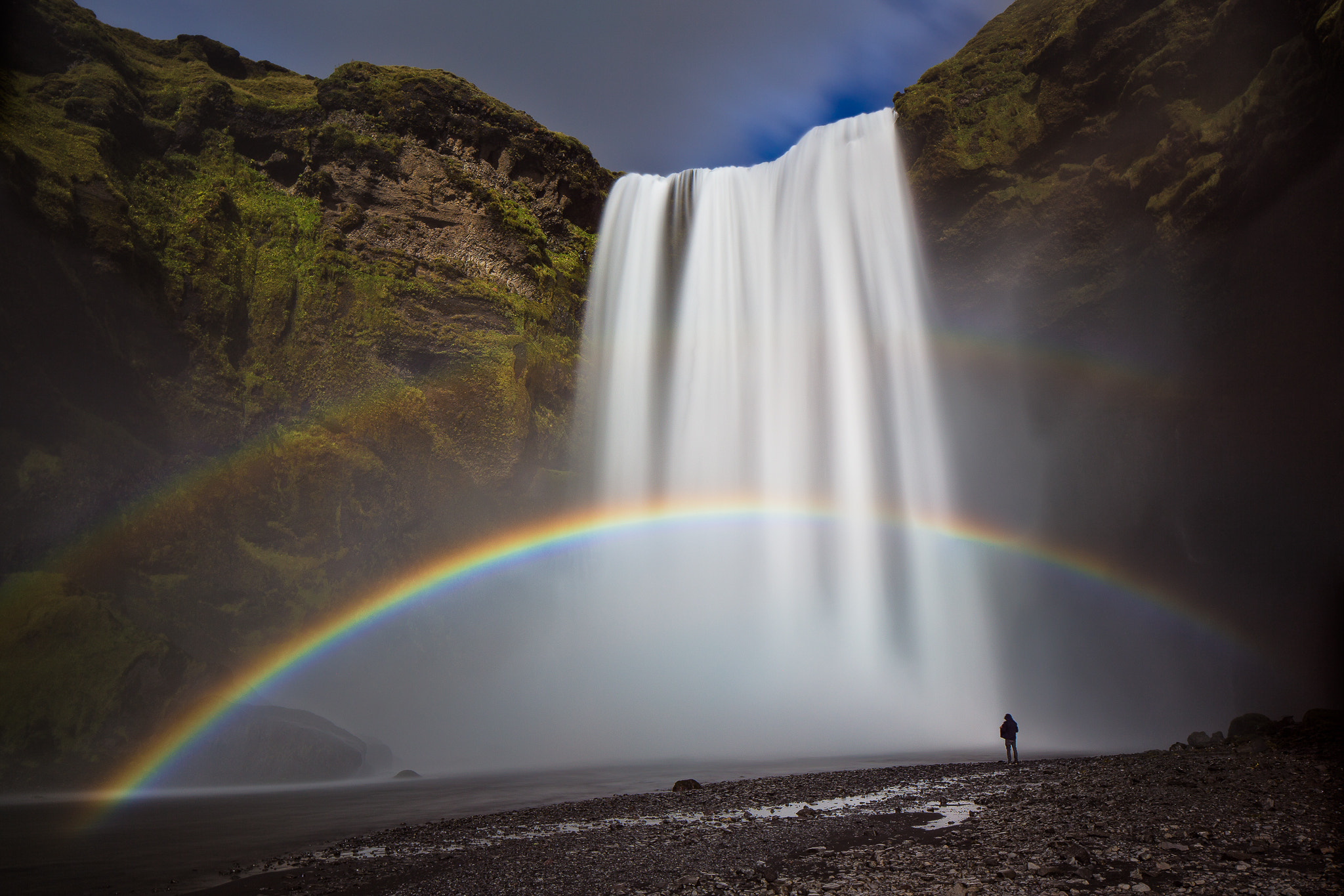 Photograph Double Rainbow Over Skogafoss by Colby Brown on 500px