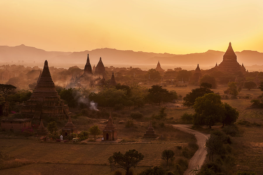 The monuments seem to overwhelm the landscape. There are about 2,000 of them covering an area of 16 square miles on the eastern bank of the Ayeyarwady in central Myanmar.