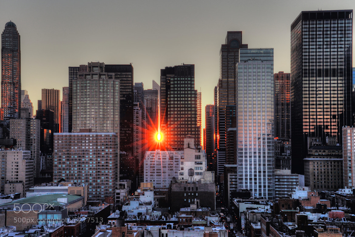 Photograph Midtown Sun - Reflected Sunrise  by Christian  Krieglsteiner  on 500px